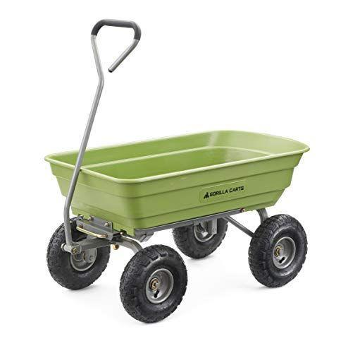 """<p><strong>Gorilla Carts</strong></p><p>amazon.com</p><p><strong>$109.99</strong></p><p><a href=""""https://www.amazon.com/dp/B01BECQF6U?tag=syn-yahoo-20&ascsubtag=%5Bartid%7C10050.g.32906783%5Bsrc%7Cyahoo-us"""" rel=""""nofollow noopener"""" target=""""_blank"""" data-ylk=""""slk:Shop Now"""" class=""""link rapid-noclick-resp"""">Shop Now</a></p><p>Between all of the painstaking bending, lifting, digging, and raking, an afternoon of working in the yard can <a href=""""https://www.countryliving.com/uk/homes-interiors/gardens/advice/a3153/how-to-dig-without-hurting-your-back/"""" rel=""""nofollow noopener"""" target=""""_blank"""" data-ylk=""""slk:take a toll on your back"""" class=""""link rapid-noclick-resp"""">take a toll on your back</a>. This wagon-style wheelbarrow is supported by four wheels, making it easier to move around than traditional front-wheel options. </p><p>The fact that it doesn't need to be raised to a specific angle and can be pulled instead of pushed further reduces strain on your body. </p>"""