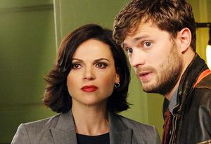 Lana Parrilla, Jamie Dornan | Photo Credits: David Gray/ABC