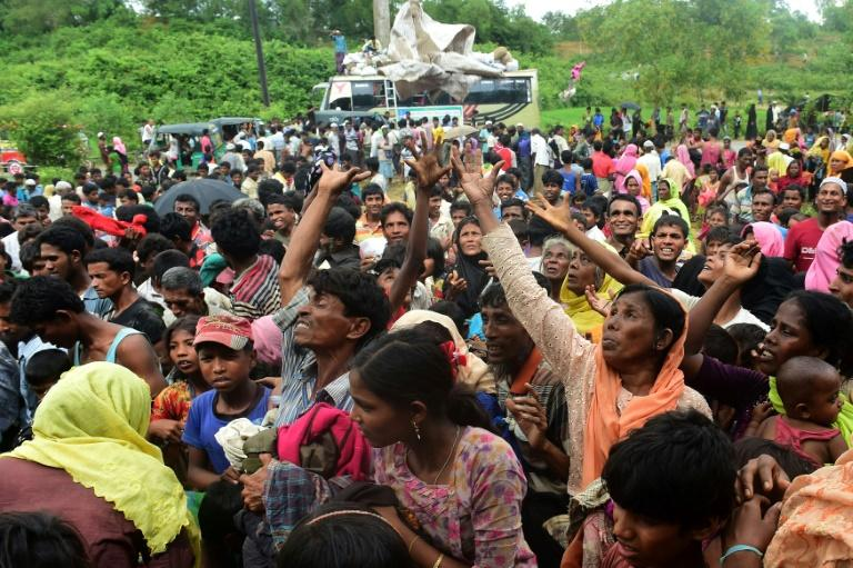 More than 420,000 Rohingya Muslims have fled the violence in Myanmar, seeking sanctuary in neighbouring Bangladesh where many live in squalid refugee camps