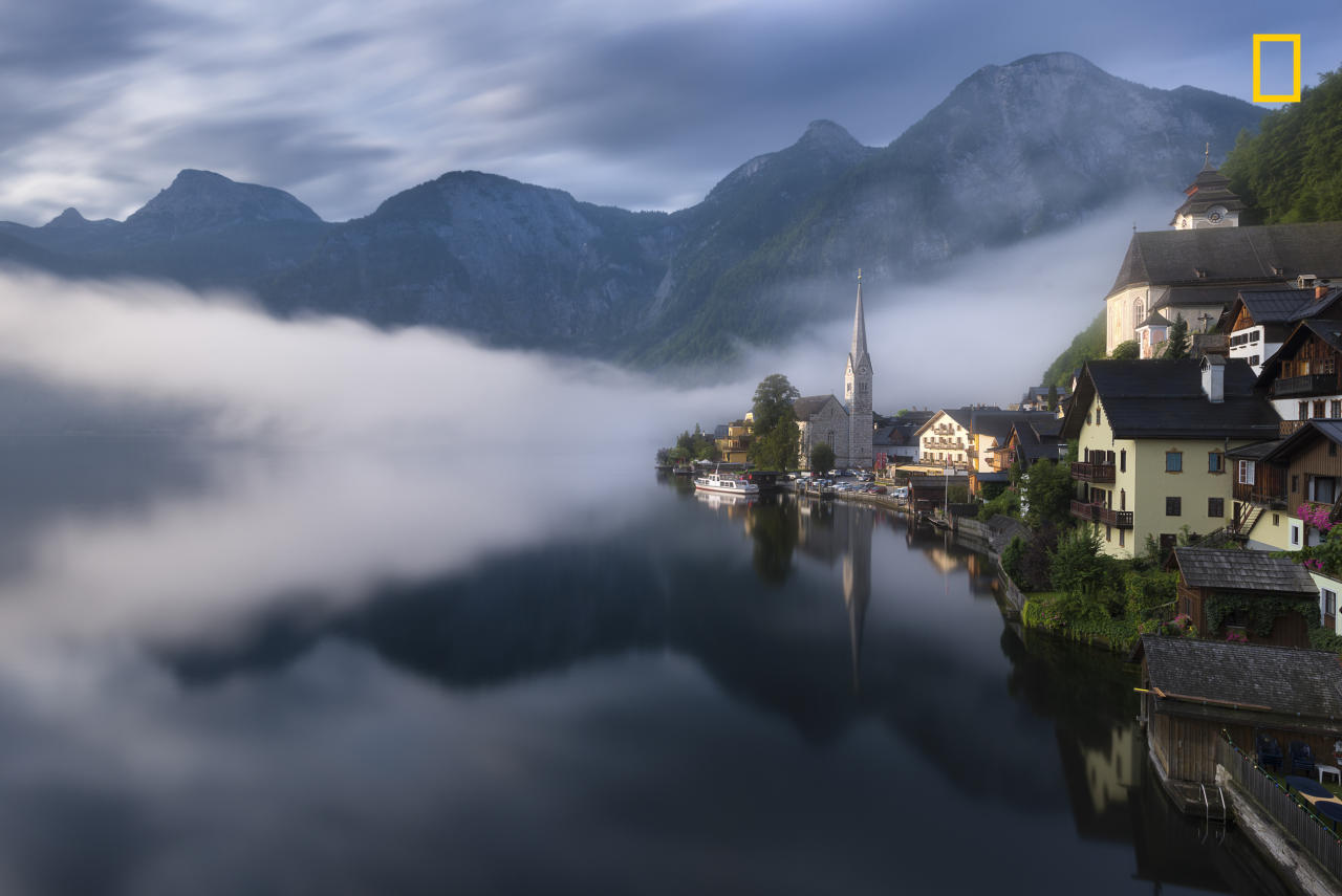 """<p>""""The image was taken from Hallstat Village in Austria right after sunrise. I had to walk some distance to reach this village view point."""" (<a rel=""""nofollow"""" href=""""http://yourshot.nationalgeographic.com/profile/1281564/"""">Shanof K.</a> / National Geographic Nature Photographer of the Year contest) </p>"""