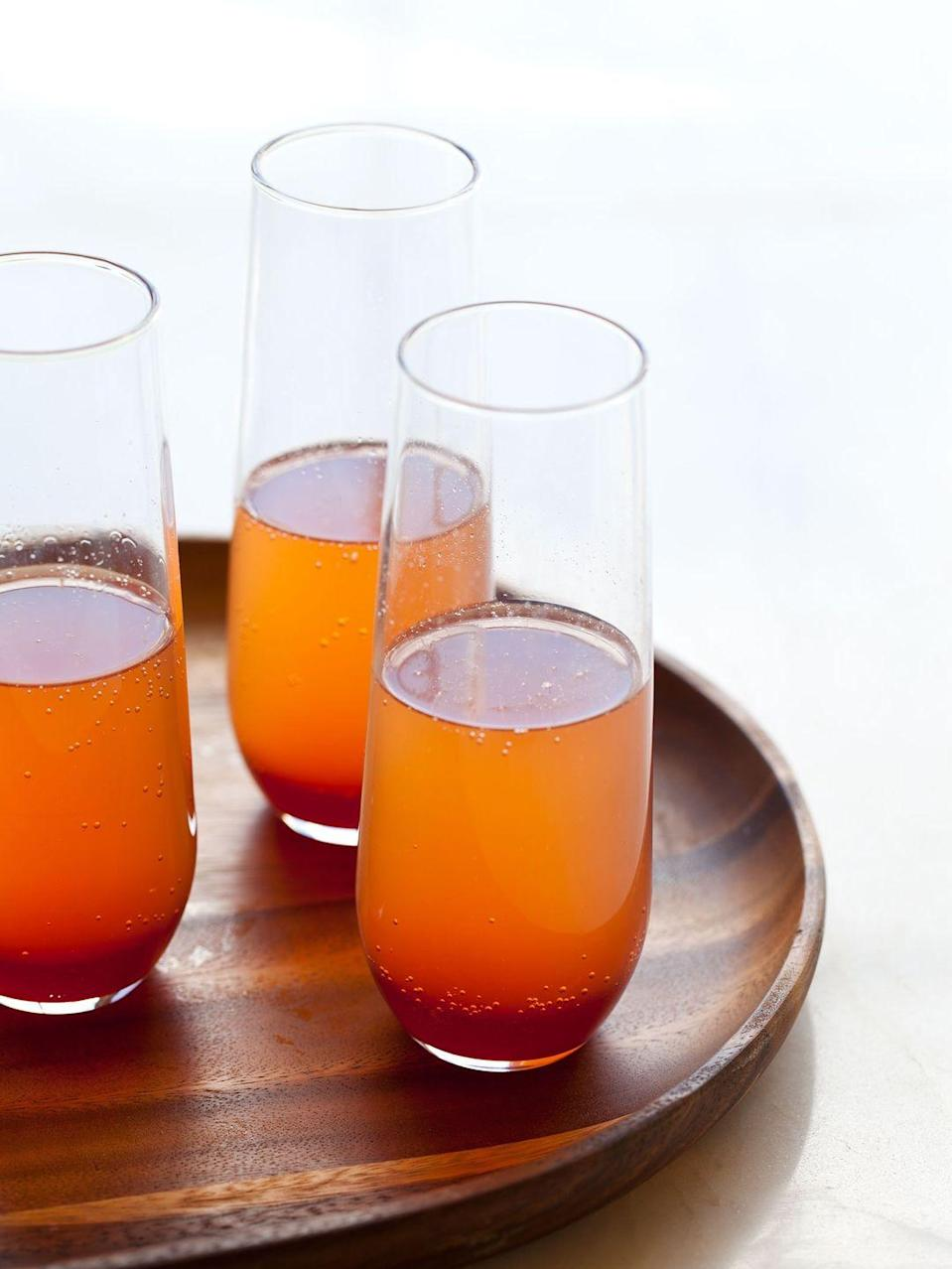 """<p>Make this drink the next star of your Sunday brunch lineup. With fresh blood orange juice, white wine and dry champagne, it's an elegant cocktail for any autumn occasion.<br></p><p><a class=""""link rapid-noclick-resp"""" href=""""http://www.spoonforkbacon.com/spice-blood-orange-champagne-punch/"""" rel=""""nofollow noopener"""" target=""""_blank"""" data-ylk=""""slk:GET THE RECIPE"""">GET THE RECIPE</a></p>"""