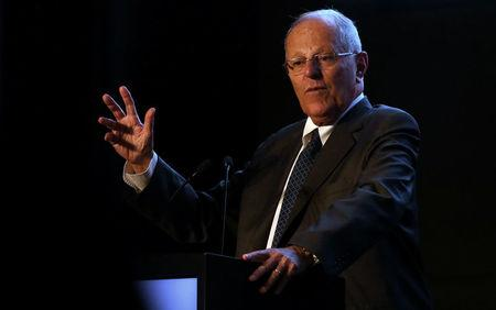 Peru's President Pedro Pablo Kuczynski participates in an event to present a balance of Peru's exports during 2017 in Lima