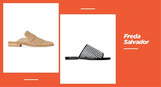 <p><strong>Origin: </strong>Designed in Sausalito, Calif. Handcrafted in Spain.<br><strong>Style:</strong> At Freda Salvador, you will find refined, modern classics — from woven slides to loafer-style mules in more neutral colors like beige, white, and black, with the occasional bold pattern like a jaguar print.<br><strong>Price:</strong> Starting at $250<br><strong>Shop:</strong> Available at <span>fredasalvador.com</span><br>(Photo: Freda Salvador) </p>