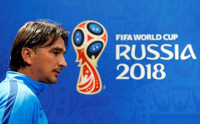 Soccer Football - World Cup - Croatia Press Conference - Nizhny Novgorod Stadium, Nizhny Novgorod, Russia - June 20, 2018 Croatia coach Zlatko Dalic during the press conference REUTERS/Carlos Barria