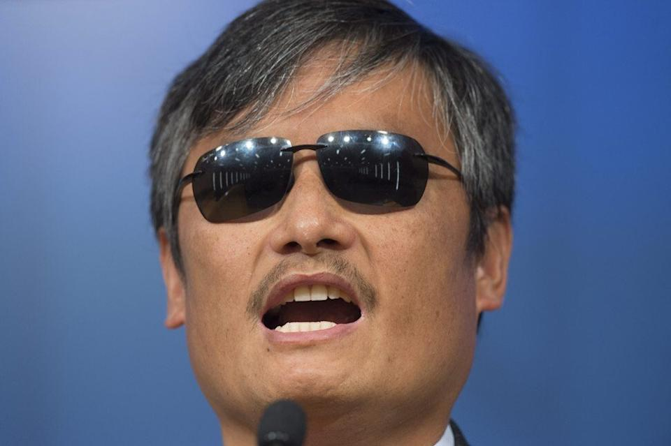 Chen Guangcheng escaped from house arrest to shelter in the US consulate. Photo: EPA