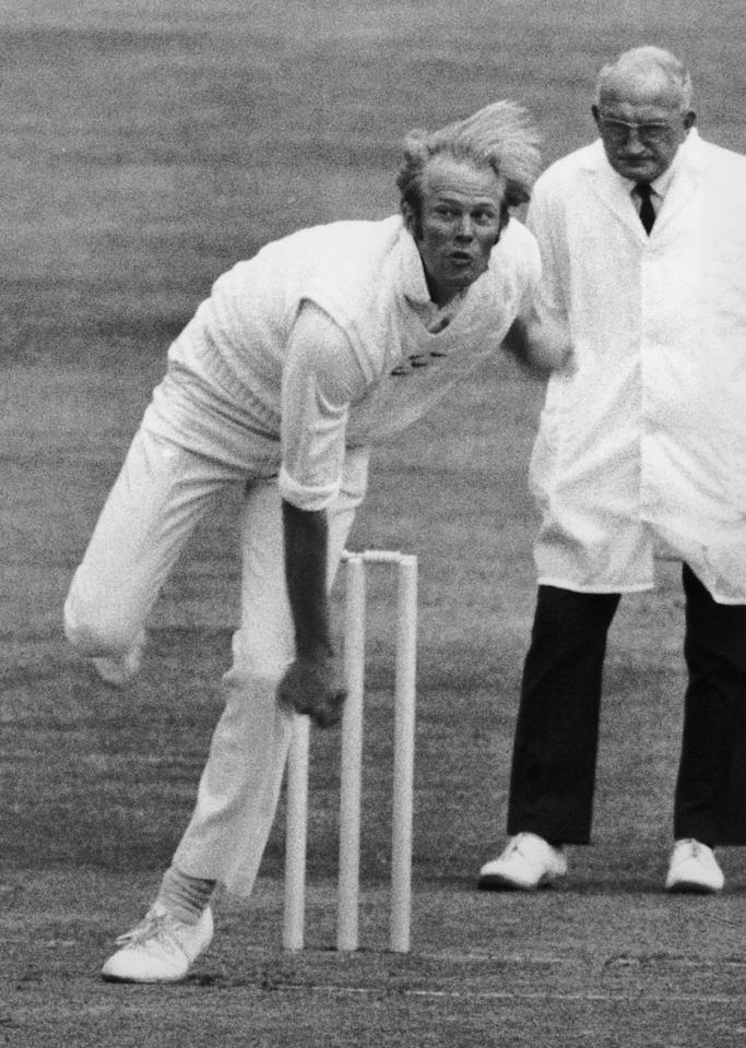 Sussex and England cricket captain Tony Greig in action for Sussex against Australia at Hove, 16th July 1975. (Photo by Dennis Oulds/Central Press/Hulton Archive/Getty Images)