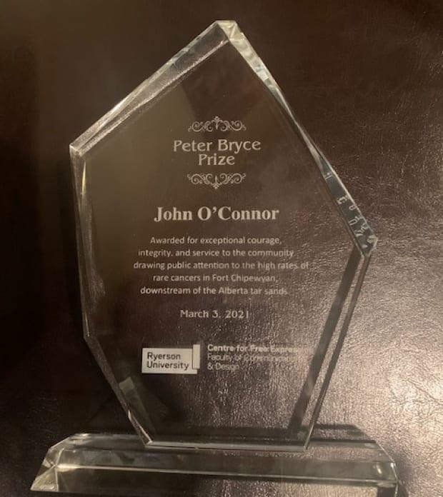 Dr. John O'Connor received the first Peter Bryce Award.