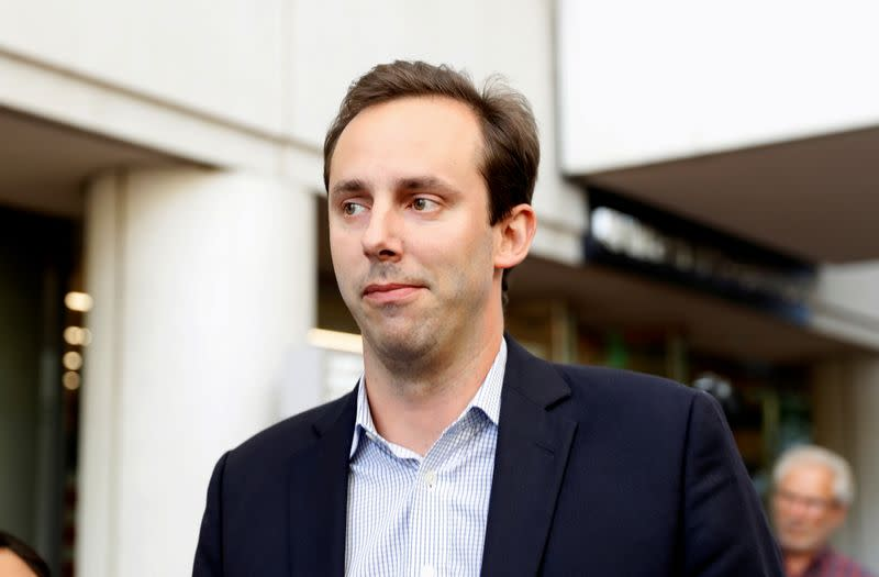 FILE PHOTO: Former Uber engineer Anthony Levandowski leaves the federal court after his arraignment hearing in San Jose