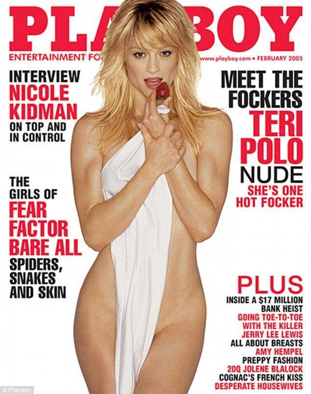 <p><strong>Issue: </strong>February 2005</p><p>Teri Polo wore nothing but a sheet accessorized with a single strawberry for her February 2005 cover. </p>