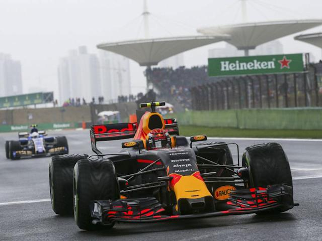 Max Verstappen lit up Shanghai by passing nine cars on the first lap of the Chinese Grand Prix: EPA