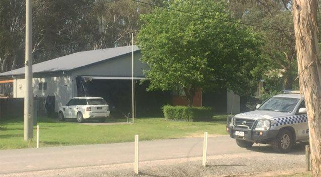 Police attend Mr Thornburgh's Barmah residence. Source: 7 News