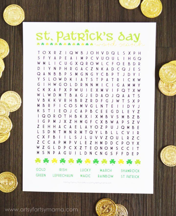 """<p>Whether it's for a class party or a party at home, this word search will keep young kids entertained to see who can find all the words first.</p><p><strong>Get the tutorial at <a href=""""https://www.artsyfartsymama.com/2015/03/st-patricks-day-word-search.html"""" rel=""""nofollow noopener"""" target=""""_blank"""" data-ylk=""""slk:Artsy Fartsy Mama"""" class=""""link rapid-noclick-resp"""">Artsy Fartsy Mama</a>. </strong></p><p><strong><a class=""""link rapid-noclick-resp"""" href=""""https://www.amazon.com/AmazonBasics-PL9-US-Thermal-Laminator/dp/B00BUI5QWS/?tag=syn-yahoo-20&ascsubtag=%5Bartid%7C10050.g.26234489%5Bsrc%7Cyahoo-us"""" rel=""""nofollow noopener"""" target=""""_blank"""" data-ylk=""""slk:SHOP LAMINATORS"""">SHOP LAMINATORS</a><br></strong></p>"""