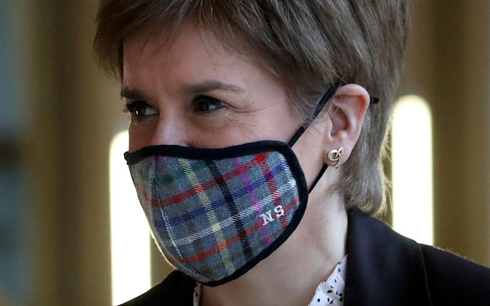 Nicola Sturgeon has defended Scotland's slower Covid vaccine roll-out - Reuters