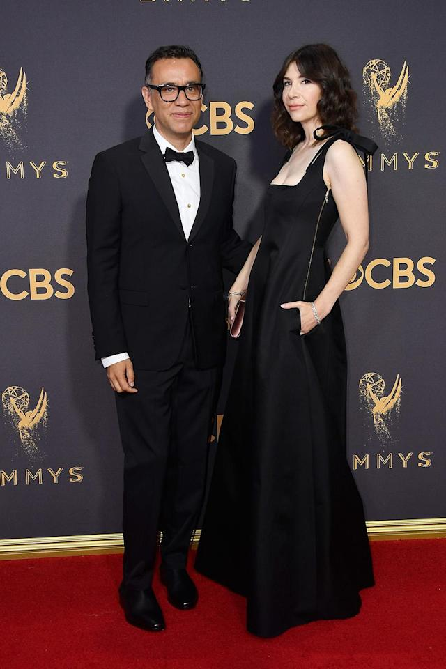<p>Fred Armisen and Carrie Brownstein attend the 69th Annual Primetime Emmy Awards on September 17, 2017. (Photo: Getty Images) </p>