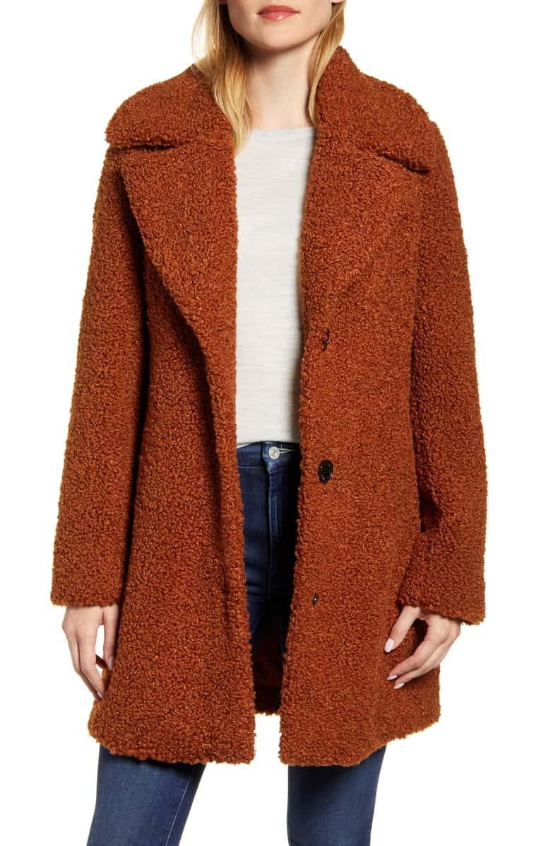 Take on the teddy coat trend with this vintage-inspired coat. (Photo: Nordstrom)