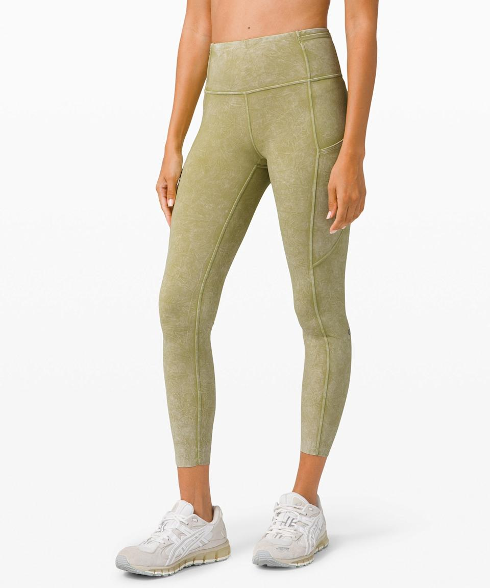 """<h2>Fast And Free High Rise Ice Dye Tight</h2><br>""""Lululemon just knows what they're doing. They're usually my go-to for <a href=""""https://www.refinery29.com/en-us/best-leggings-by-occasion"""" rel=""""nofollow noopener"""" target=""""_blank"""" data-ylk=""""slk:workout leggings"""" class=""""link rapid-noclick-resp"""">workout leggings</a>, but these ones are so comfy and soft that I love just wearing them around my house as I move from room to room, in my attempt to find a comfy spot to work from home."""" —<em> EG </em><br><br><strong>lululemon</strong> Fast and Free High Rise Ice Dye Tight, $, available at <a href=""""https://go.skimresources.com/?id=30283X879131&url=https%3A%2F%2Fshop.lululemon.com%2Fp%2Fwomens-leggings%2FFast-and-Free-HR-Tight-25-Ice%2F_%2Fprod10080057%3Fcolor%3D46550"""" rel=""""nofollow noopener"""" target=""""_blank"""" data-ylk=""""slk:lululemon"""" class=""""link rapid-noclick-resp"""">lululemon</a>"""
