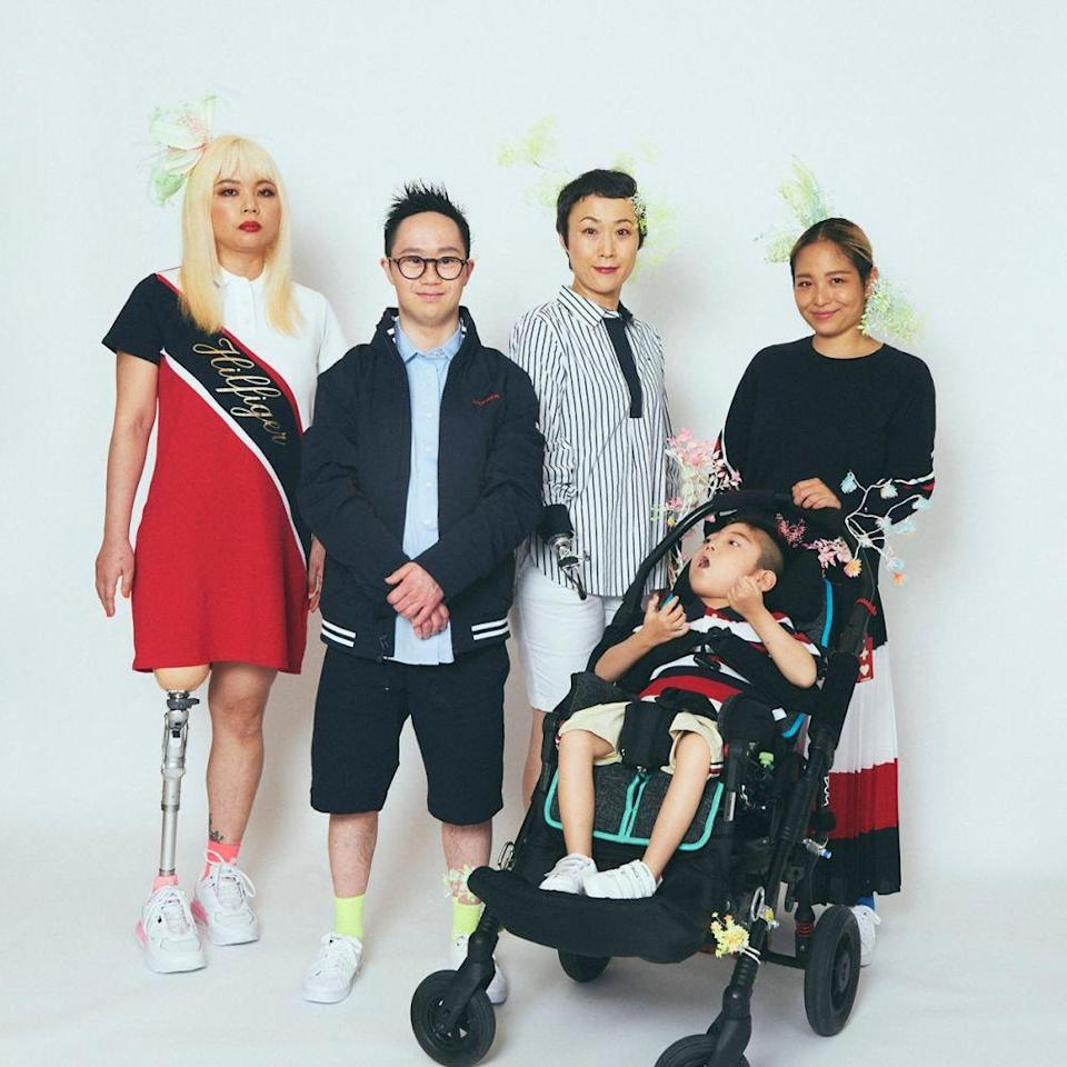 Japan's first amputee model Gimico (far left) appears in the Tommy Hilfiger Adaptive campaign. — Picture courtesy of True Colours Fashion