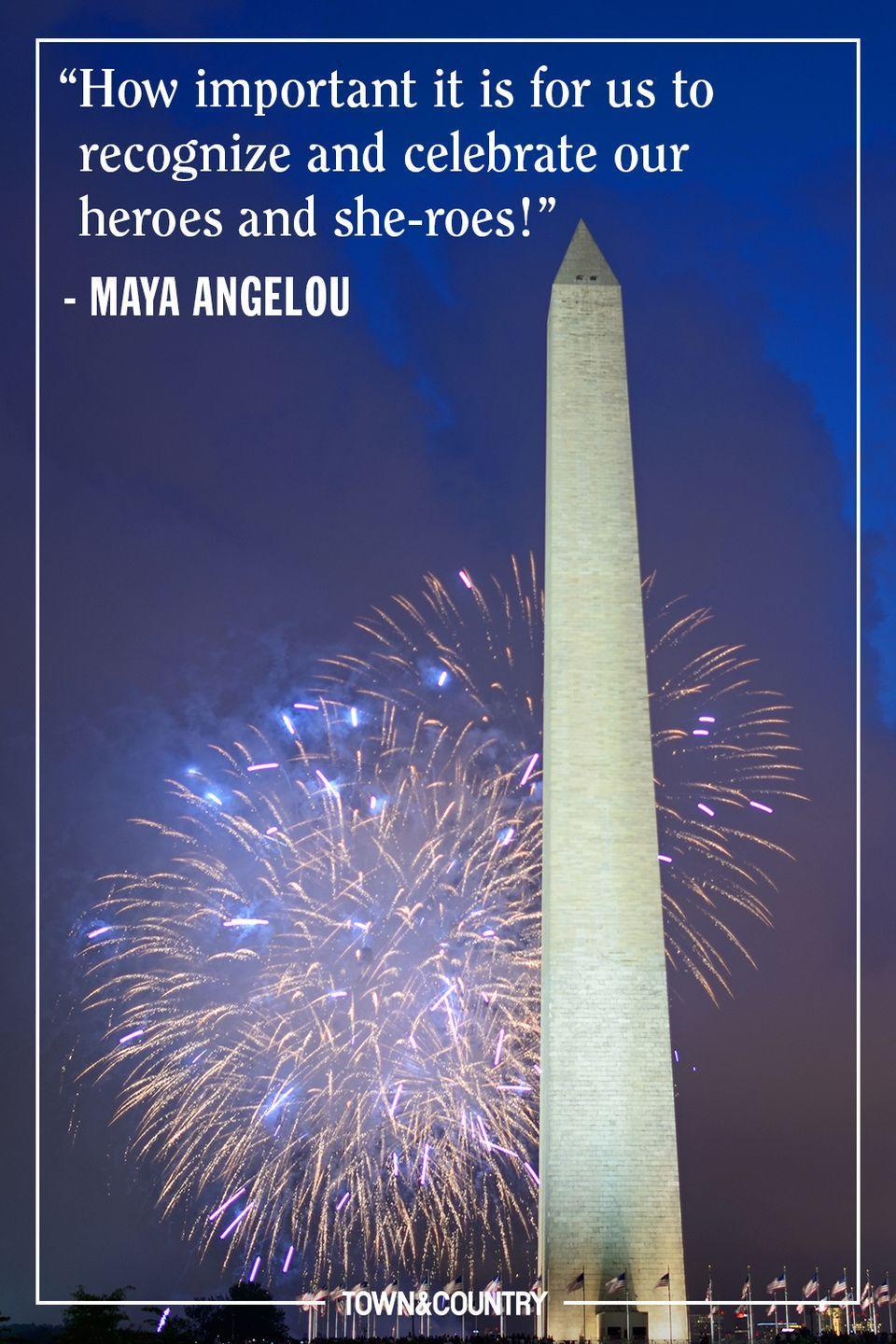 """<p>""""How important it is for us to recognize and celebrate our heroes and she-roes!"""" </p><p><em>— Maya Angelou</em></p>"""