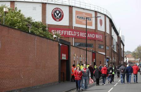Britain Football Soccer - Sheffield United v Chesterfield - Sky Bet League One - Bramall Lane - 30/4/17 General view outside the stadium before the match Mandatory Credit: Action Images / Craig Brough Livepic