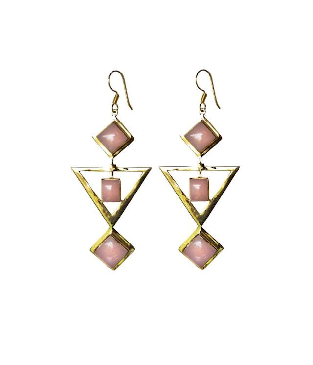 "<p>Mountain & Moon RISHIMA earrings, $99, <a href=""https://www.mountainandmoon.com.au/"" rel=""nofollow noopener"" target=""_blank"" data-ylk=""slk:mountainandmoon.com"" class=""link rapid-noclick-resp"">mountainandmoon.com</a> </p>"