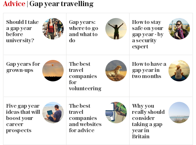 Advice | Gap year travelling