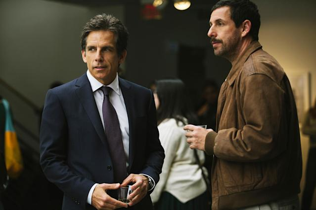 Ben Stiller and Adam Sandler in Netflix's <i>The Meyerowitz Stories</i>. (Photo: Netflix)