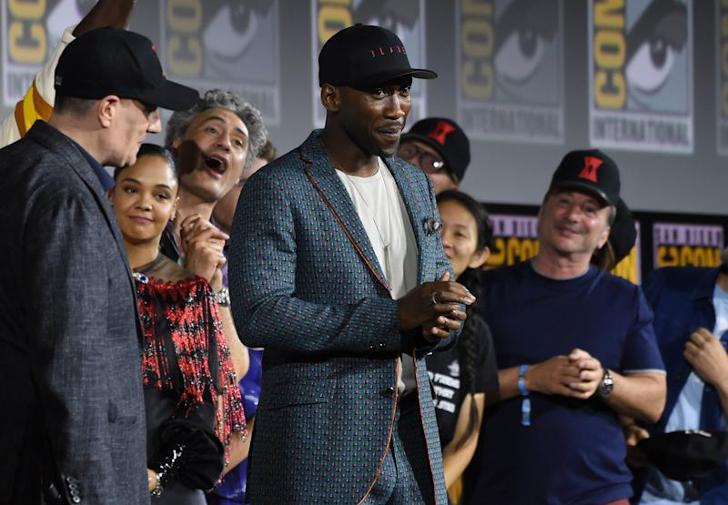 Mahershala Ali (center) is introduced as the star of