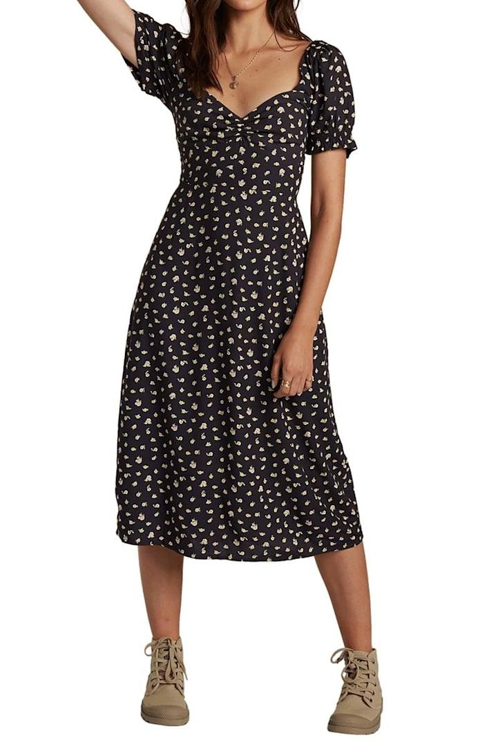 <p>Get this <span>Billabong Love Letters Floral Midi Dress</span> ($70) before it sells out.</p>
