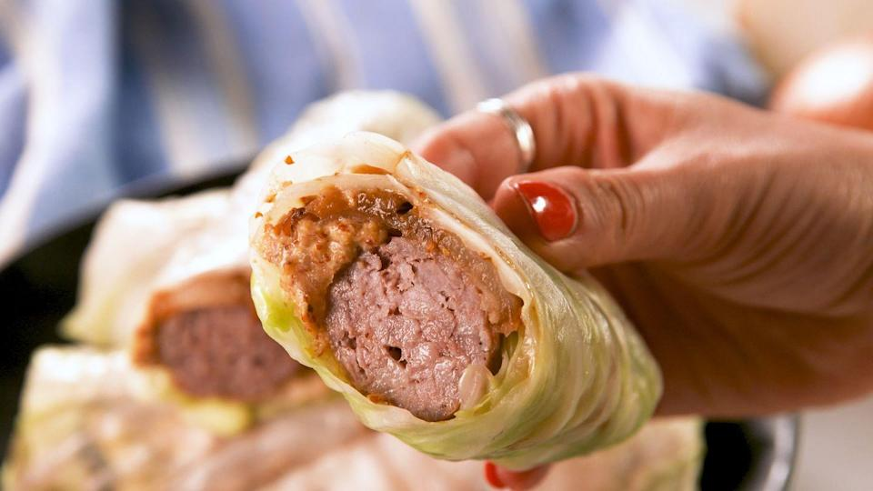 """<p>Finding easy and delicious low-carb recipes can be difficult, but this one is a true winner. </p><p>Get the recipe from <a href=""""https://www.delish.com/cooking/recipe-ideas/a27483720/cabbage-wrap-brats-recipe/"""" rel=""""nofollow noopener"""" target=""""_blank"""" data-ylk=""""slk:Delish"""" class=""""link rapid-noclick-resp"""">Delish</a>.</p>"""