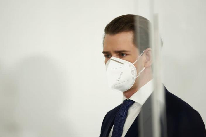 Austria's Chancellor Sebastian Kurz attends a news conference in Vienna