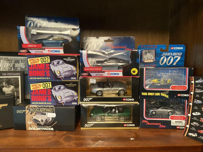 Just a small portion of James' James Bond collection at Bond's Cottage (Remy Millar)