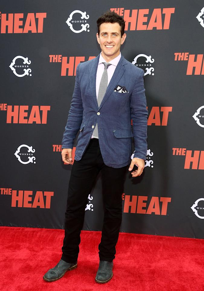 """NEW YORK, NY - JUNE 23: Joey McIntyre attends """"The Heat"""" New York Premiere at Ziegfeld Theatre on June 23, 2013 in New York City. (Photo by Astrid Stawiarz/Getty Images)"""
