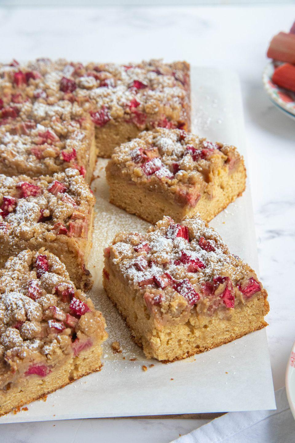 "<p>Put a spring-inspired twist on a regular crumb cake with this rhubarb version. It'll taste delicious with an after dinner coffee.</p><p><strong>Get the recipe at <a href=""https://bakesbybrownsugar.com/rhubarb-crumb-cake/"" rel=""nofollow noopener"" target=""_blank"" data-ylk=""slk:Bakes by Brown Sugar"" class=""link rapid-noclick-resp"">Bakes by Brown Sugar</a>.</strong></p><p><strong><a class=""link rapid-noclick-resp"" href=""https://go.redirectingat.com?id=74968X1596630&url=https%3A%2F%2Fwww.walmart.com%2Fsearch%2F%3Fquery%3Dmeasuring%2Bcups&sref=https%3A%2F%2Fwww.thepioneerwoman.com%2Ffood-cooking%2Fmeals-menus%2Fg35408493%2Feaster-desserts%2F"" rel=""nofollow noopener"" target=""_blank"" data-ylk=""slk:SHOP MEASURING CUPS"">SHOP MEASURING CUPS</a><br></strong></p>"