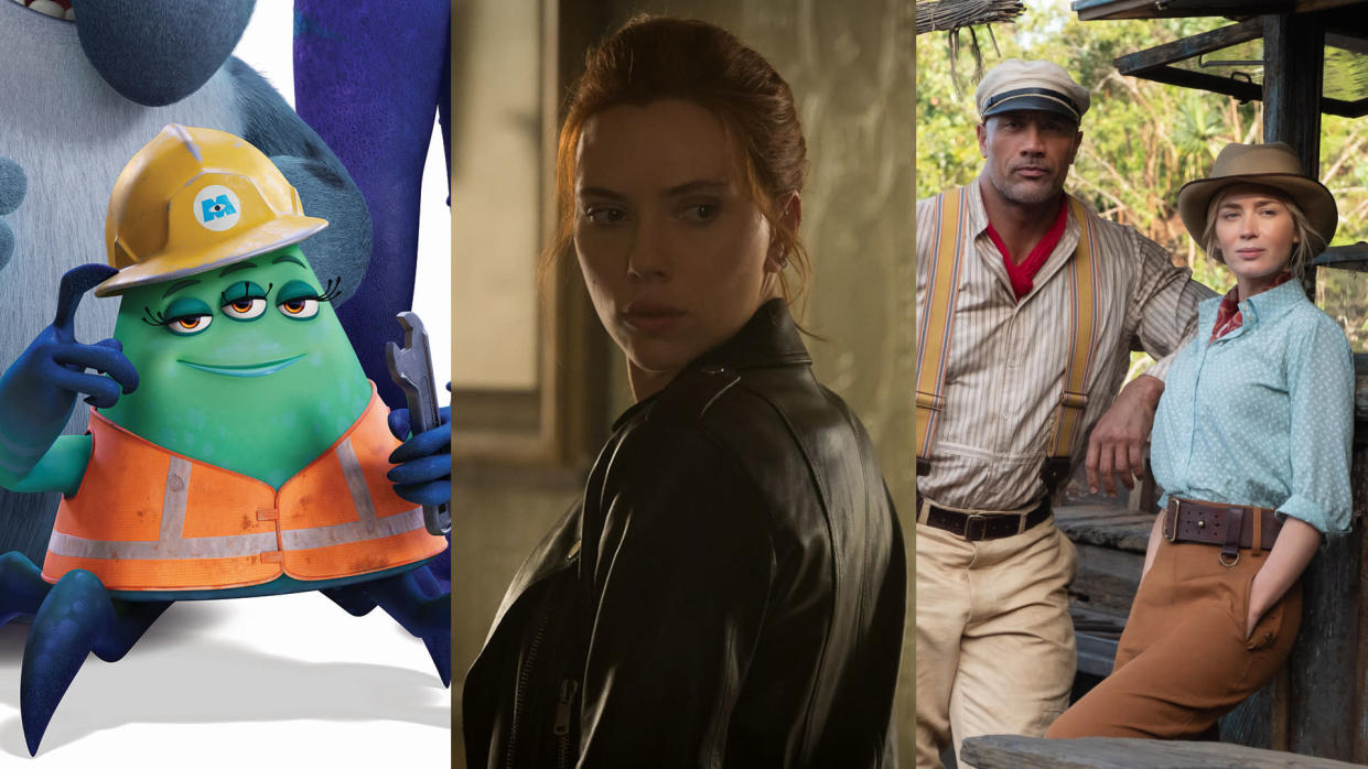 'Monsters at Work', 'Black Widow' and 'Jungle Cruise' are all coming to Disney+ UK in July 2021. (Disney)