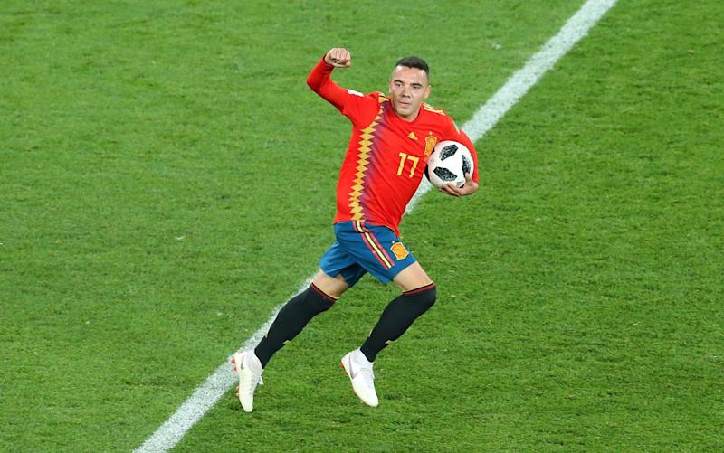 Iago Aspas celebrates and Spain are through - you can find out their last-16 opponents here - Getty Images Europe
