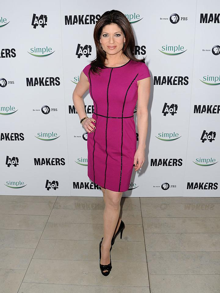 "Tamsen Fadal arrives at ""MAKERS: Women Who Make America"" New York Premiere at Alice Tully Hall on February 6, 2013 in New York City."