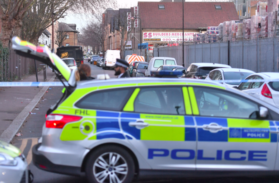 <em>Police cordoned off the road as they searched for evidence (PA)</em>