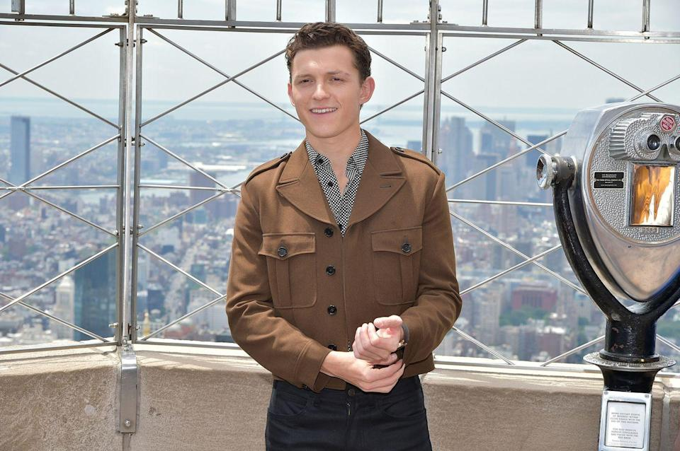 <p>Tom Holland attends Stars Of <em>Spider-Man: Far From Home </em>at The Empire State Building at The Empire State Building on June 24, 2019 in New York City.</p>