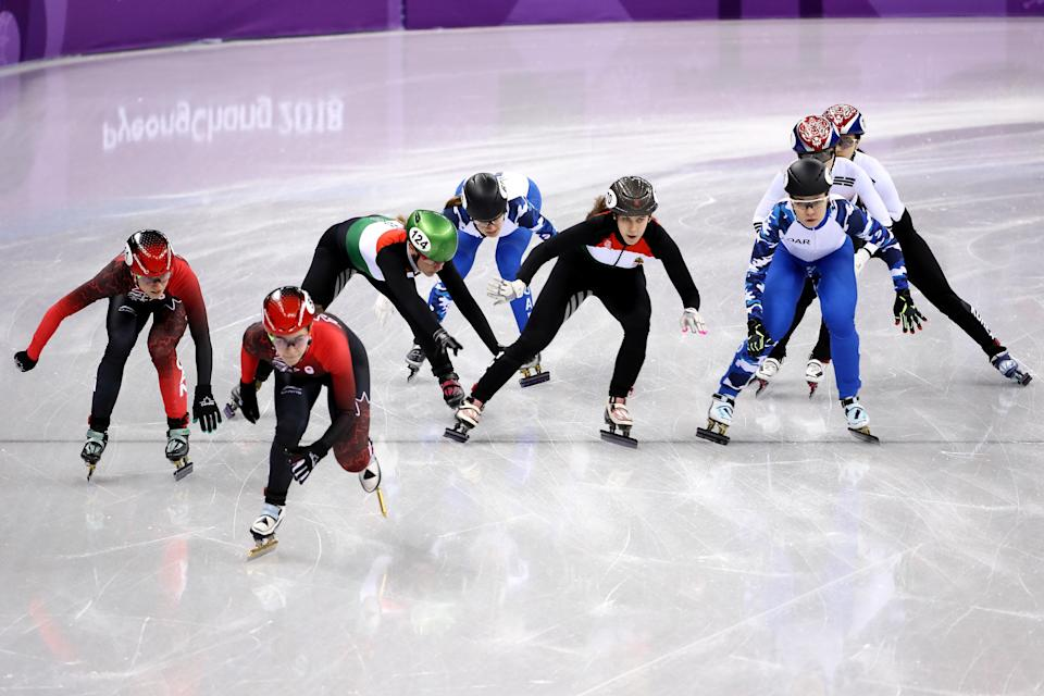 South Korea fell, and still set an Olympic record (AP).