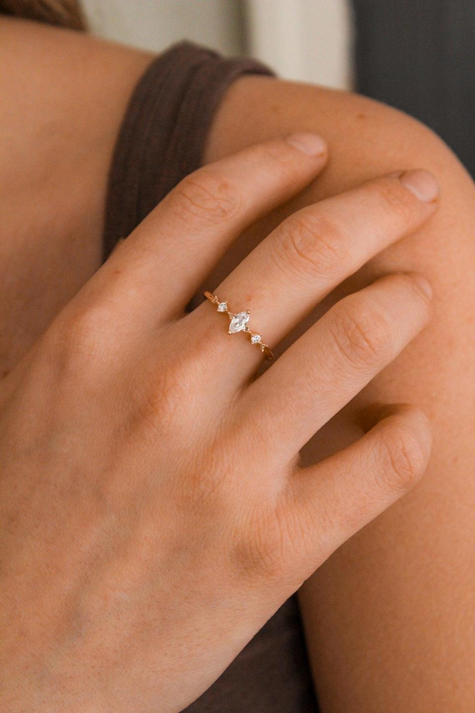 <p>I love the simple elegance of this <span>Crystal Ring</span> ($20, originally $23).</p>