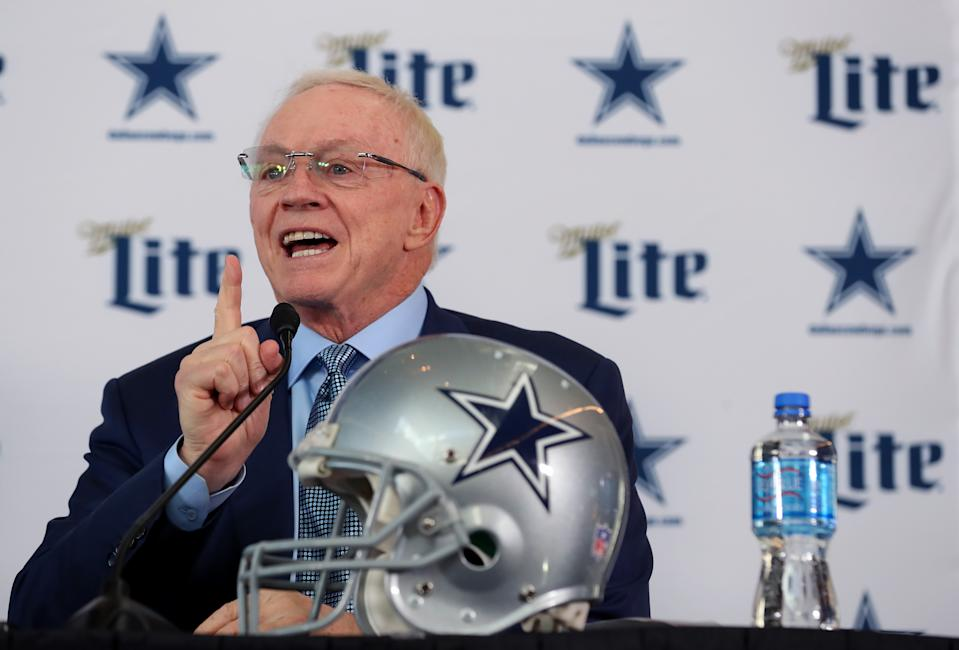 Cowboys owner Jerry Jones shelled out big contracts to Dak Prescott and Amari Cooper. (Photo by Tom Pennington/Getty Images)