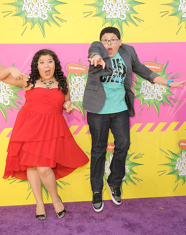 "Two Rodriguezes are better than one! ""Modern Family"" star Rico Rodriquez, 14, brought along his older sister Raini, also an actress, as his plus one. While Rico looked suave and laid back in his T-shirt, blazer, and kicks, the 19-year-old went glam in a red party dress and animal-print heels."