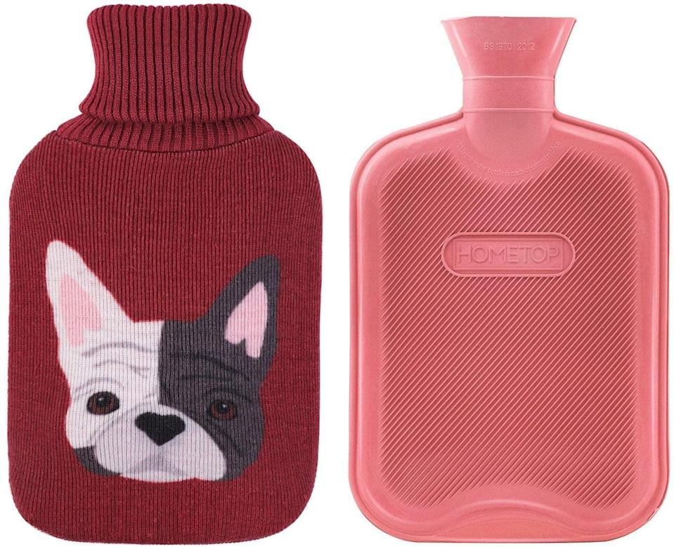 <p>The next best thing to cuddling and playing with a cute puppy when your period has you down is the <span>HomeTop Premium 2 Liter Classic Rubber Hot Water Bottle With Cute Bulldog Knit Cover</span> ($15). </p>