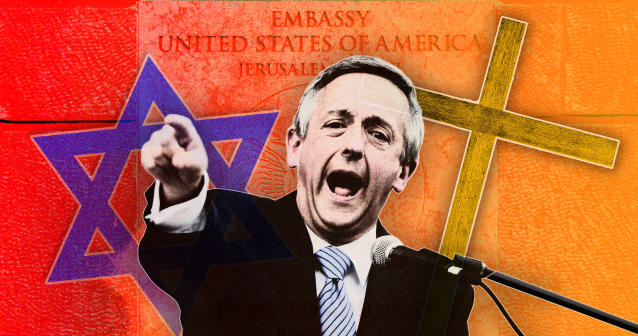 The Rev. Robert Jeffress (Photo illustration: Yahoo News; photos: Getty Images, Erich Schlegel/Getty Images, Getty Images, Sebastian Scheiner/AP)