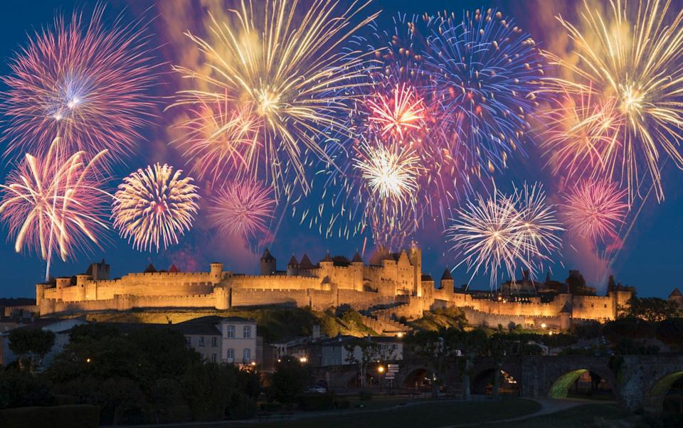 Fireworks over Carcassone - Getty
