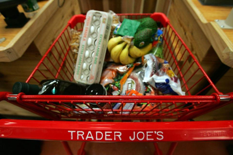 """<p>OK, waiting in line at Trader Joe's sucks, but the inconvenience <em>probably </em>doesn't outweigh the pricey upcharge on Amazon. Example: A 2.3-oz jar of its famous Everything But the Bagel Seasoning sells for <a href=""""https://www.amazon.com/Trader-Joes-Everything-Sesame-Seasoning/dp/B06W9N8X9H/?tag=syn-yahoo-20&ascsubtag=%5Bartid%7C2164.g.36385883%5Bsrc%7Cyahoo-us"""" rel=""""nofollow noopener"""" target=""""_blank"""" data-ylk=""""slk:$7 on Amazon"""" class=""""link rapid-noclick-resp"""">$7 on Amazon</a>, but <a href=""""https://www.mashed.com/182587/the-truth-about-trader-joes-everything-but-the-bagel-seasoning/#:~:text=At%20a%20price%20point%20of,deal%20(via%20The%20Kitchn)."""" rel=""""nofollow noopener"""" target=""""_blank"""" data-ylk=""""slk:$1.99 in stores"""" class=""""link rapid-noclick-resp"""">$1.99 in stores</a>.</p>"""