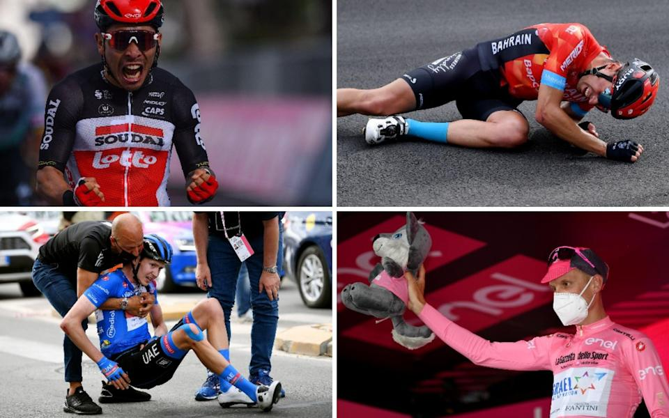 Caleb Ewan powers to Giro d'Italia stage win as Mikel Landa crashes out - GETTY IMAGES
