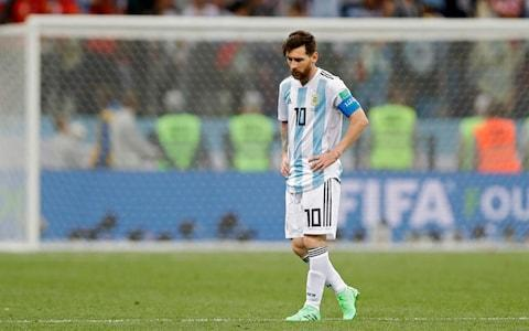 "Deep in thought or suffering from the burden of carrying Argentina's World Cup hopes on his shoulders? That is what fans asked themselves when the camera panned to Lionel Messi during the national anthems before Argentina's 3-0 defeat to Croatia, which leaves them needing snookers to reach the knockout stages. Russia 2018 could prove 30-year-old Messi's last chance to win the World Cup, and he cut a pained expression before Thursday's nights dire team performance in which he was peripheral. Clutching a hand to his forehead, Messi looked as if he was nursing a migraine- or perhaps pent-up exasperation with the disorganised rabble he was asked to rescue. It adumbrated a frustrating evening for the Barcelona forward, as Argentina's defensive troubles reared their head throughout and goalkeeper Willy Caballero's howler was responsible for Croatia's opener. Messi is denied by Ivan Rakitic Credit: AFP As the game ran away from Argentina and a barrage of frustrated tackles flew in, Messi's shoulders slumped in dejection as he stared at another lost international tournament. Argentina Jorge Sampaoli had called on his team to not wait for Messi to drag them through the mire, but he was left too isolated and touched the ball only twice in Croatia's penalty area during the second half. Messi has now had more shots on goal than any other player so far at this World Cup with 12, but has failed to score with any of them. Messi's genius could not make up for Argentina's shortcomings Credit: AP Argentina have looked unbalanced in both of their group matches, despite an array of attacking talent that includes Gonzalo Higuain, Paulo Dybala and Sergio Aguero besides Messi. It is worth remembering that Messi is the reason that Argentina, who had three different managers in a troubled qualification campaign, made it to Russia. He scored a hat-trick in a 3-1 away victory to Ecuador that ensured the two-time World Champions made it to this summer's finals. Messi was visibly anguished as the game slipped away Credit: REUTERS Speaking to BBC Sport, outstanding Croatia midfielder Luka Modric said: ""I don't want to talk about other players. We are happy with our own performance. We wanted to cut out Messi receiving the ball because he is the most dangerous player. ""Our collective effort in the second half was pleasing as we enjoyed more possession than in the first half. After Cabellero's mistake, our feathers were up and we scored two more goals. We were deserved winners."" WorldCup - newsletter promo - end of article"