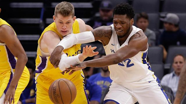 """<p>The 6'7"""" forward averaged 13.1 points and 5.0 rebounds over eight contests...</p>"""