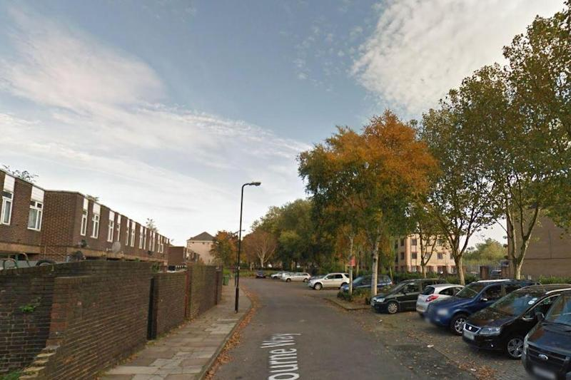 The scene of the fatal shooting in Rebourne Way: Google Streetview